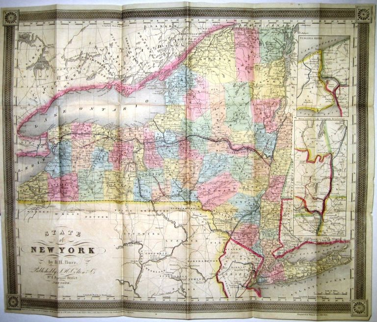 BURR'S MAP OF THE STATE OF NEW YORK. David H. Burr.