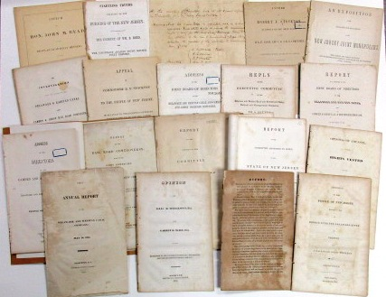 GROUP OF NINETEEN ITEMS RELATING TO THE DELAWARE AND RARITAN CANAL COMPANY. Delaware, Raritan Canal Company.