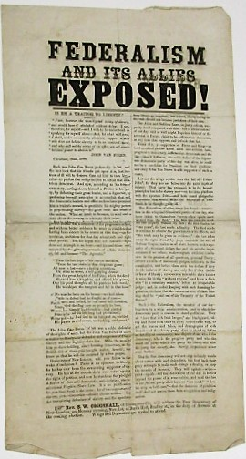 FEDERALISM AND ITS ALLIES EXPOSED! IS HE A TRAITOR TO LIBERTY? Election of 1852.