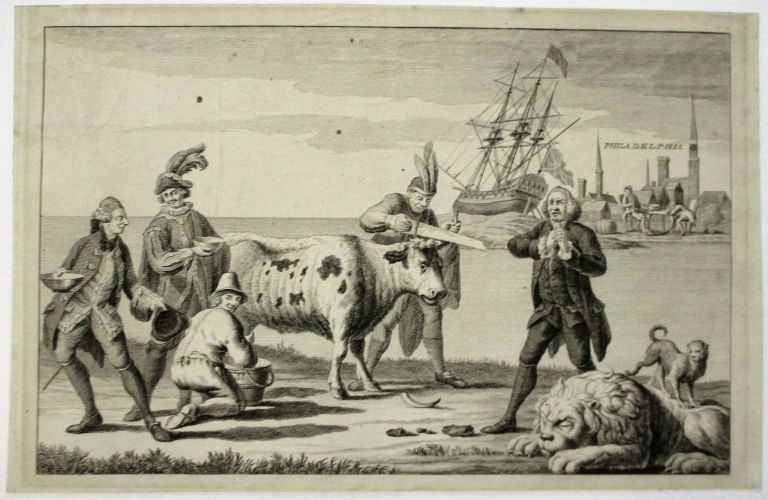 [A PICTURESQUE VIEW OF THE STATE OF THE NATION FOR FEBRUARY 1778]. American Revolution.