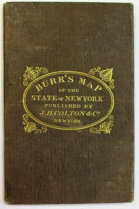 BURR'S MAP OF THE STATE OF NEW YORK.