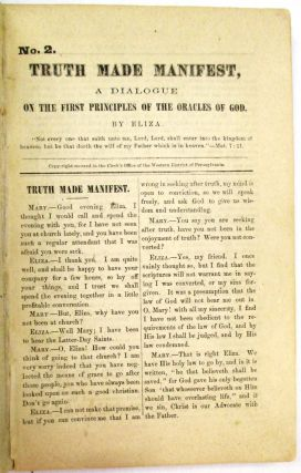 TWENTY-SEVEN PAMPHLETS ISSUED BY THE REORGANIZED CHURCH OF JESUS CHRIST OF LATTER DAY SAINTS....