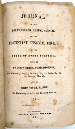 JOURNALS OF THE ANNUAL CONVENTIONS OF THE DIOCESE OF NORTH CAROLINA, 1860-1870. PROTESTANT EPISCOPAL CHURCH.