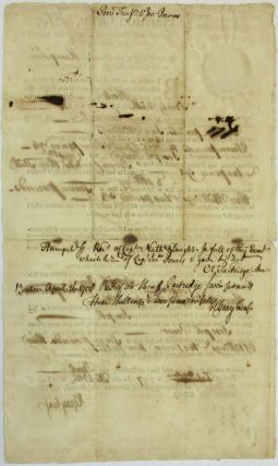 PROVINCE OF THE MASSACHUSETTS BAY, HARRISON GRAY, ESQ; TREASURER AND RECEIVER GENERAL OF HIS MAJESTY'S SAID PROVINCE, TO THE SHERIFF OF THE COUNTY OF [Hampshire] OR HIS UNDER-SHERIFF, OR DEPUTY, GREETING...