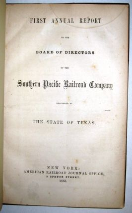SOUTHERN PACIFIC RAILROAD COMPANY. ORGANIZATION. ARTICLES OF ASSOCIATION AND CONSOLIDATION, AND ACTS OF CONGRESS AND OF THE LEGISLATURE OF THE STATE OF CALIFORNIA RELATIVE THERETO. Southern Pacific Railroad Company:.