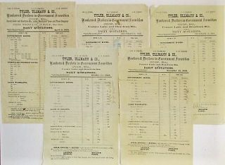 A COLLECTION OF ELEVEN CHICAGO DAILY FINANCIAL SHEETS FROM BANKING HOUSES, 1868. Chicago...