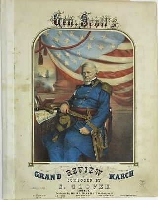 GEN. SCOTT'S GRAND REVIEW MARCH. Glover, tephen