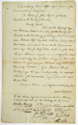 TO HIS EXCELLENCY THOMAS MIFFLIN ESQUIRE, GOVERNOR OF THE COMMONWEALTH OF PENNSYLVANIA. THE...