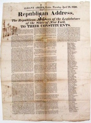 REPUBLICAN ADDRESS. THE REPUBLICAN MEMBERS OF THE LEGISLATURE OF THE STATE OF NEW-YORK, TO THEIR...