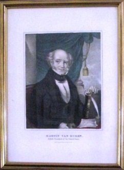 HAND-COLORED LITHOGRAPH: MARTIN VAN BUREN, EIGHTH PRESIDENT OF THE UNITED STATES. Currier, athaniel