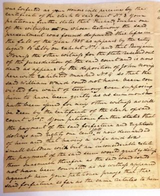 AUTOGRAPH DOCUMENT SIGNED, 7 MAY 1815, AS CHIEF JUSTICE OF THE MARYLAND COURT OF APPEALS,