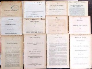 TWELVE PAMPHLETS ABOUT THE WHEELING BRIDGE CONTROVERSY BETWEEN VIRGINIA AND PENNSYLVANIA....