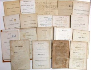 GROUP OF NINETEEN ITEMS RELATING TO THE DELAWARE AND RARITAN CANAL COMPANY. Delaware, Raritan...