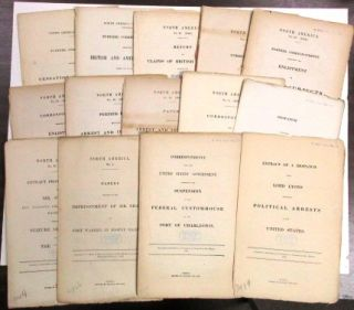 FOURTEEN PARLIAMENTARY REPORTS CONCERNING BRITISH-AMERICAN DIPLOMATIC RELATIONS DURING THE CIVIL...