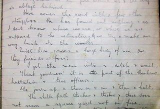 WORLD WAR I MANUSCRIPT DIARY KEPT BY BRITISH NAVAL OFFICER J.R. PATTEN, COLLINGWOOD BATTALION, AT THE SIEGE OF ANTWERP, OCTOBER 4, 1914 THROUGH OCTOBER 8, 1914.