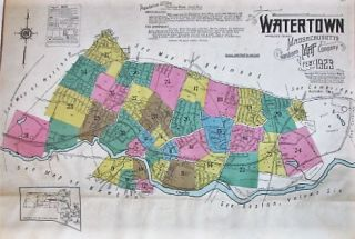 WATERTOWN, MIDDLESEX COUNTY, MASSACHUSETTS. Sanborn Map, Publishing Company:.