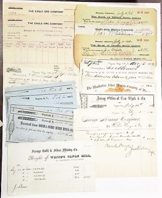 COLLECTION OF 35 WESTERN MINING DOCUMENTS INCLUDING ARTICLES OF INCORPORATION, ASSAY...