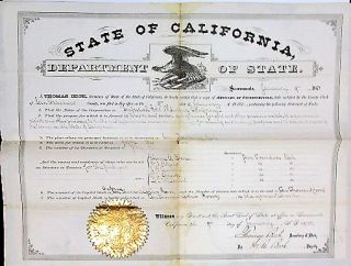 COLLECTION OF 35 WESTERN MINING DOCUMENTS INCLUDING ARTICLES OF INCORPORATION, ASSAY CERTIFICATES, RECEIPTS, DRAFTS.