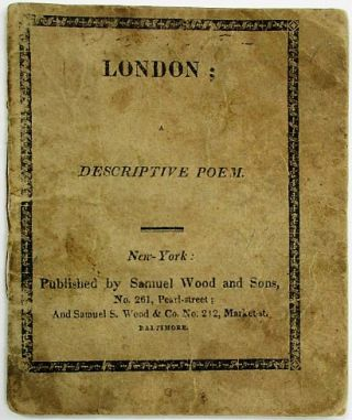 LONDON; A DESCRIPTIVE POEM. Children's Book