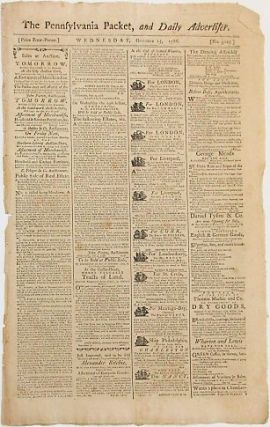 THE PENNSYLVANIA PACKET, AND DAILY ADVERTISER. WEDNESDAY, OCTOBER 15, 1788. African Slave Trade