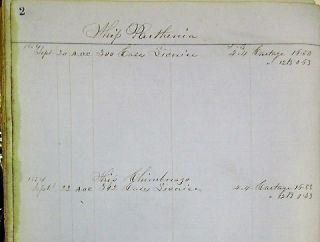 REGISTER OF HENRY P. HUSTED'S WATERFRONT IMPORTS WAREHOUSE, NEW YORK CITY, SEPTEMBER 1854 - APRIL 1859.