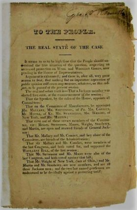 TO THE PEOPLE. THE REAL STATE OF THE CASE. Election of 1828.
