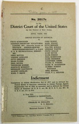 IN THE DISTRICT COURT OF THE UNITED STATES FOR THE DISTRICT OF NEW JERSEY. APRIL TERM, 1943....