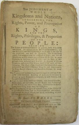THE JUDGMENT OF WHOLE KINGDOMS AND NATIONS, CONCERNING THE RIGHTS, POWER, AND PREROGATIVE OF...