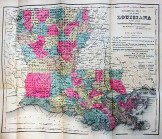 LOUISIANA PRODUCTS, RESOURCES AND ATTRACTIONS, WITH A SKETCH OF THE PARISHES. A HAND BOOK OF RELIABLE INFORMATION CONCERNING THE STATE. PUBLISHED FOR THE STATE BY WM. H. HARRIS, STATE COMMISSIONER OF AGRICULTURE AND IMMIGRATION. SENT FREE ON RECEIPT OF 9 CENTS POSTAGE.
