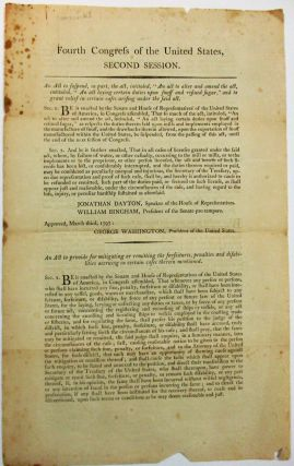 FOURTH CONGRESS OF THE UNITED STATES, SECOND SESSION. AN ACT TO SUSPEND, IN PART, THE ACT,...