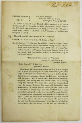 GENERAL ORDERS, NO. 18. WAR DEPARTMENT, ADJUTANT GENERAL'S OFFICE, WASHINGTON, JANUARY 22, 1863....