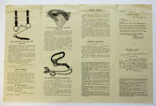 ILLUSTRATED BROCHURE ADVERTISING DR. CHARLES L. REA'S HORSE RELATED PRODUCTS FOR 1904, INCLUDING...