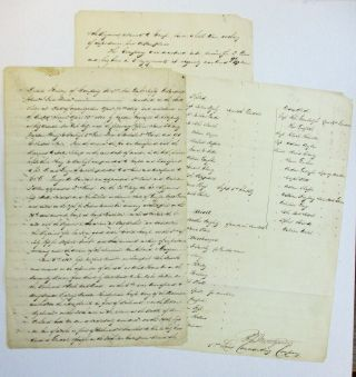 "AUTOGRAPH MANUSCRIPT SIGNED: ""DETAIL HISTORY OF COMPANY B, 1ST NEW YORK INFANTRY VOLUNTEERS,"" BY..."