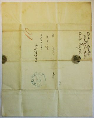 """AUTOGRAPH LETTER SIGNED, FROM COLONEL HENRY BUEHLER, HARRISBURG, 29 OCTOBER 1842, TO REAH FRAZER OF LANCASTER, PENNSYLVANIA, REGARDING THE UPCOMING DEMOCRATIC CONVENTION: """"THERE CAN BE NO DOUBT OF THE POLICY OF POSTPONING THE JANUARY CONVENTION UNTIL, SAY THE 4 MARCH AND MAKING THE CASE A 'DEMOCRATIC' ONE TO NOMINATE A CANDIDATE FOR THE PRESIDENCY. IF WE GO ON WITH THE 'BUCHANAN CONVENTION' AS CONTEMPLATED - IT WILL NO DOUBT BE FULL AND RESPECTABLE - ALL WE COULD WISH EXCEPT THAT IT WILL NOT BE LOOKED UPON AS A GENERAL THING AND MAY LEAD TO SIMILAR CALLS AND CONVENTIONS ON THE PART OF THE FRIENDS OF THE OTHER CANDIDATES. I HAVE ALWAYS HAD THIS OPINION ON THE SUBJECT AND NOW FINDING SO MANY OF OUR FRIENDS OF THE SAME WAY OF THINKING WRITE TO ADDRESS YOU ON THE SUBJECT IN ORDER THAT WE MAY KNOW THE VIEWS ENTERTAINED AT HEADQUARTERS. """"WOULD IT BE BEST THEN TO CHANGE THE TIME & IF SO WHAT DAY SHALL BE NAMED? """"WHO SHALL ACT AND BY WHAT AUTHORITY SHALL THE ANNOUNCEMENT BE MADE AND HOW? """"WILL THE CENTRAL STATE COMMITTEE APPOINTED AT THE LAST DEMOCRATIC CONVENTION NOT BE CONSIDERED AS OVERSTEPPING THEIR BOUNDS IN TAKING THIS UPON THEMSELVES? """"WE WILL DO ANYTHING IN RELATION TO THE PARTY THAT WILL BE CONSIDERED BEST AND WITH A RIGHT HEARTY GOOD WILL."""