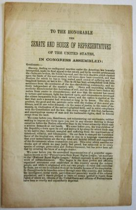 TO THE HONORABLE THE SENATE AND HOUSE OF REPRESENTATIVES OF THE UNITED STATES, IN CONGRESS ASSEMBLED.