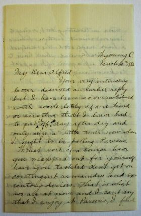"AUTOGRAPH LETTER SIGNED TO ""MY DEAR ALFRED,"" HIS PRINCETON CLASSMATE, VIVIDLY DESCRIBING MURDERS,..."