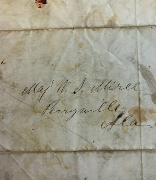 """AUTOGRAPH LETTER, 9 JANUARY 1861, FROM BY SAM. L. COCHRAN, TO MAJOR WILLIAM S. MIREE, EXPLAINING HIS ERRONEOUS RETENTION OF """"THE BOY, ABE."""""""