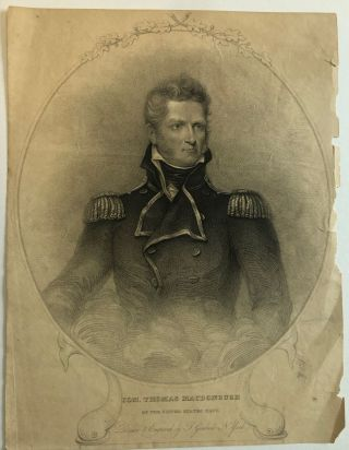 COM. THOMAS MACDONOUGH OF THE UNITED STATES NAVY. DRAWN & ENGRAVED BY T. GIMBREDE, N. YORK....