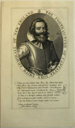"ETCHING AND ENGRAVING FROM CAPTAIN JOHN SMITH'S 1616 MAP OF NEW ENGLAND: ""THE PORTRAICTUER OF..."