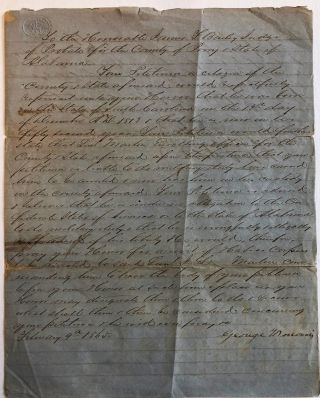 PETITION FOR A WRIT OF HABEAS CORPUS BY GEORGE N. MORRIS OF PERRY COUNTY, ALABAMA, WHO CLAIMS HE...