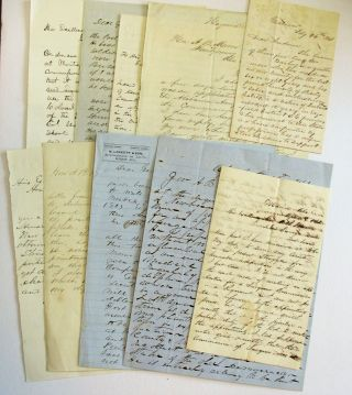 TEN LETTERS, ENTIRELY IN INK MANUSCRIPT, TO ALABAMA GOVERNOR ANDREW B. MOORE, DURING JANUARY -...