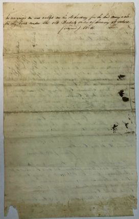 """""""THIS IS TO CERTIFY THAT THE MOTHER OF ANDREW JACKSON WAS FANNY JENNINGS, AND CAME TO AMERICA WITH THE KING'S SOLDIERS UNDER THE COMMAND OF GENL. DAUBBS, WHO ERECTED A FORT IN NORTH CAROLINA IN THE YEAR 1759 OR 1760, AND WHEN THE SOLDIERS WERE REMOVED FROM THAT PLACE BILL MOORE & FANNY WERE LEFT BEHIND, AND REMAINED THE RESIDUE OF THEIR LIFE IN THAT SECTION OF THE COUNTRY. """"FANNY'S ELDEST SON WILLIAM WHO WAS A DARK MULATTO WAS SOLD TO MOSES PURVIANCE, AND WAS TAKEN TO THE SOUTH. HER SECOND SON ANDREW WAS CAST UPON THE KING'S COURT AT THE SEPTEMBER TERM IN 1767: THEY GAVE HIM A NAME BY VOTE, ANDREW JACKSON, AFTER HIS SUPPOSED FATHER, WHO WAS A SLAVE, AND ONE FOURTH IN THE AFRICAN BLOOD, AND BOUND HIM TO LAWYER AVERY AFTERWARDS COL. AVERY OF PLEASANT GARDEN, BURKE COUNTY NORTH CAROLINA AND DOCTOR BUSHELL BECAME HIS GODFATHER AND HAD HIM BAPTIZED UNDER THE AUTHORITY OF THE CHURCH OF ENGLAND... """"(SIGNED) WILLIAM RODGERS """"N.B. THE ABOVE SLAVE WAS THE PROPERTY OF JAMES GREENWAY HIS MOTHER WAS A MULATTO, AND HIS FATHER SUPPOSED TO BE AN IRISHMAN AND THE SAID FANNY WAS LIVING ON THE GREENWAY'S PLANTATION IN A CABIN AND WAS KNOWN TO ASSOCIATE WITH THE PEOPLE OF COLOUR BELONGING TO THE SAID COL. GREENWAY. """" (SIGNED) WM RODGERS """"IT IS POSSIBLE THAT DAVID PURVIANCE REMEMBERED THIS FANNY JENNINGS, AND ANDREW JACKSON, WHO WENT TO SCHOOL TO JOHN MONTGOMERY. GENL C. MCDOWELL IF LIVING COULD ALSO ATTEST TO ANDREW'S RAISING AND ARCHIBALD SLOANE, GEORGE DICKEY AND DAVID SMITH AND MANY OTHERS LIVING IN BURK COUNTY NORTH CAROLINA WHEN THE COURT BOUND JACKSON TO AVERY. IN PROCESS OF TIME MY FATHER REMOVED TO GREENE COUNTY, E. TENNESSEE NO GREAT DISTANCE FROM JONESBOROUGH, WHERE THE SAME ANDREW SET AS JUDGE OF THE SUPERIOR COURT, WHEN HE KNEW ME: WHEN WE WOULD -- ALWAYS APPEARED FRIENDLY, AND CALLED MY NAME. I ALSO SAW HIM AFTER HE RECOGNIZED ME AND CALLED ME HIS OLD HACKNEY FOR HE HAD MANY A RIDE ON MY BACK UNDER THE OLD BRITISH ORDER OF HORSING AT SCHOOL. """"(SIGNED) W.B."""" ."""
