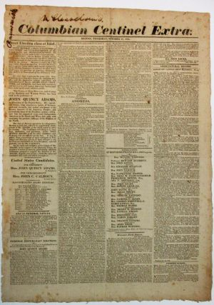 COLUMBIAN CENTINEL EXTRA. Election of 1824