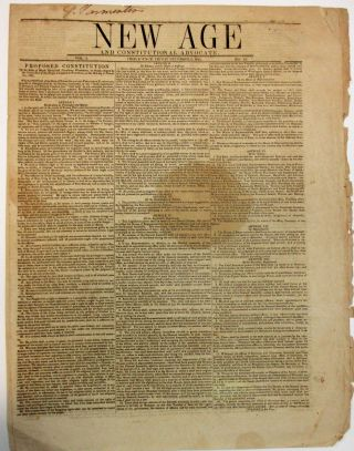 NEW AGE AND CONSTITUTIONAL ADVOCATE. PROVIDENCE, FRIDAY DECEMBER 3, 1841. VOL. 2. NO. 42. Peoples...