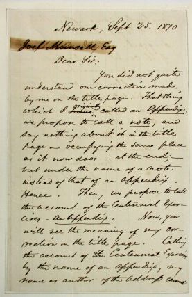 AUTOGRAPH LETTER SIGNED, AS ASSOCIATE JUSTICE OF THE UNITED STATES SUPREME COURT, TO PUBLISHER...