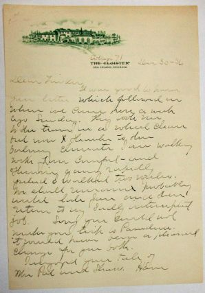 AUTOGRAPH LETTER SIGNED, 30 DECEMBER 1936, TO HIS FRIEND EDWARD LAROCQUE TINKER, REGARDING HIS...