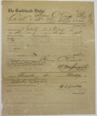 PRINTED DOCUMENT, COMPLETED IN MANUSCRIPT, AWARDING $48 PAY TO PRIVATE HENRY C. CREWS OF COMPANY...