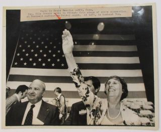 THREE PRESS PHOTOGRAPHS OF CONNECTICUT GOVERNOR ELLA GRASSO DURING HER EARLY YEARS IN GOVERNMENT.