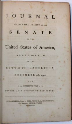 JOURNAL OF THE THIRD SESSION OF THE SENATE OF THE UNITED STATES OF AMERICA, BEGUN AND HELD AT THE...
