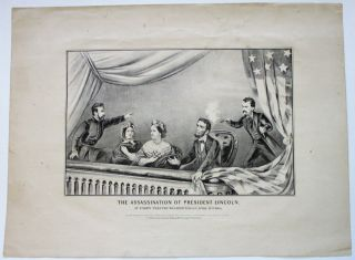 THE ASSASSINATION OF PRESIDENT LINCOLN, AT FORD'S THEATRE WASHINGTON D.C. APRIL 14TH, 1865....